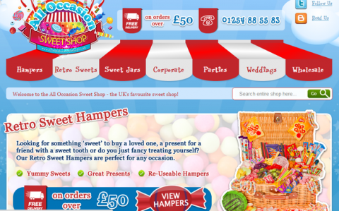 Blogging Assignment: Retro Sweets, Hampers, Jars and Gifts