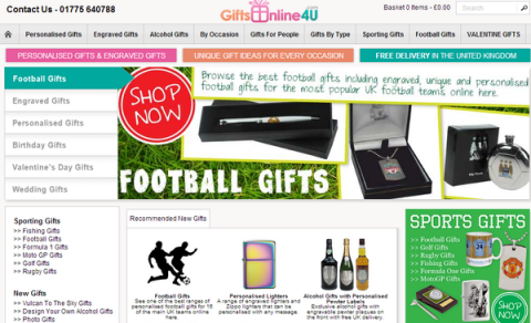 Blogging assignment: Write a post about a website specialising in personalised gifts for different occasions