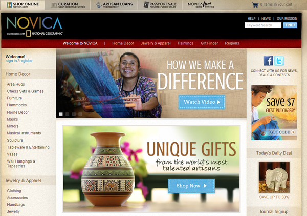 Blogging assignment: NOVICA Review/Giveaway Opportunity