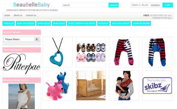 Blogging assignment: Tell the world what you think about a new online baby boutique