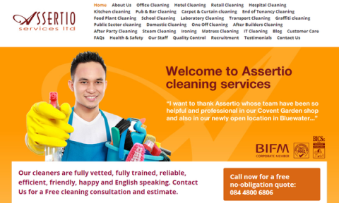 Blogging assignment: Promotion / Review of our New Website – Assertio Services – Office Cleaning London for Payment
