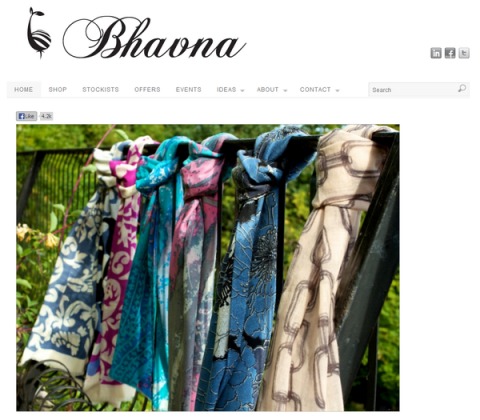 Blogging assignment: Promote an ethically produced luxury brand of scarves and kaftans
