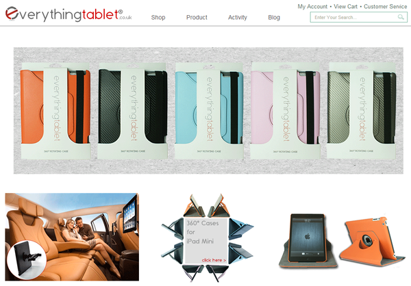 Blogger outreach assignment: Product Review of iPad & iPad Mini 360° Case