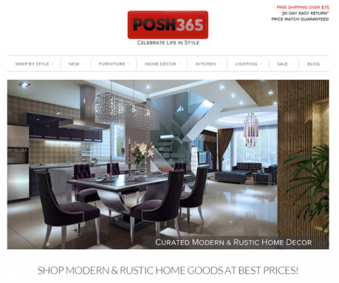 Blogging assignment: POSH365 – Sells stylish modern & rustic home goods up to 60% off. Celebrate Your Life In Style! ♥
