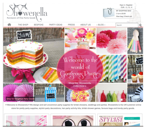 Blogging assignment: Help spread the word about ♥ Showerella ♥ – The gorgeous new online store for pretty party supplies