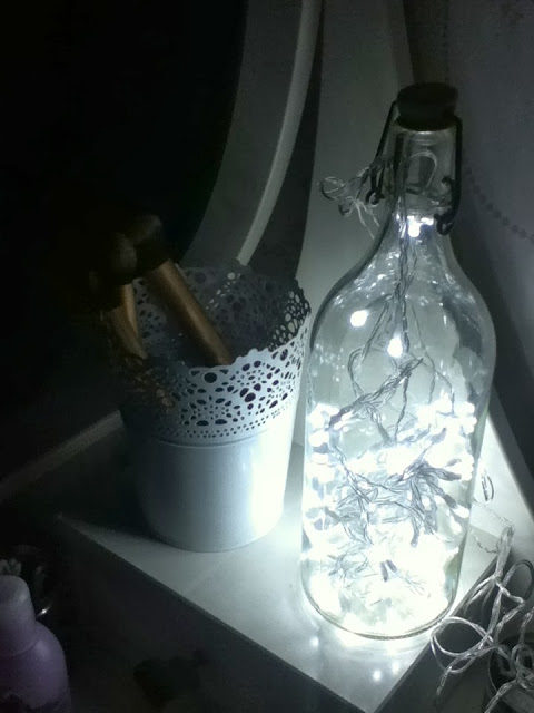 DIY: bottle lamp