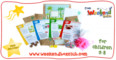 Blogging assignment: Weekend Box is looking for Mummy/Daddy/Family/Lifestyle bloggers to review a crafty activity box for children aged 3-8