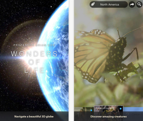 Blogging assignment: Review Professor Brian Cox's Wonders of Life App