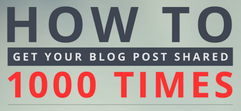 Infographic – The Best ways to share your blog post