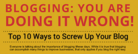 Infographic – Top 10 ways to screw up your blog