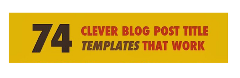 Infographic – Blog post title template