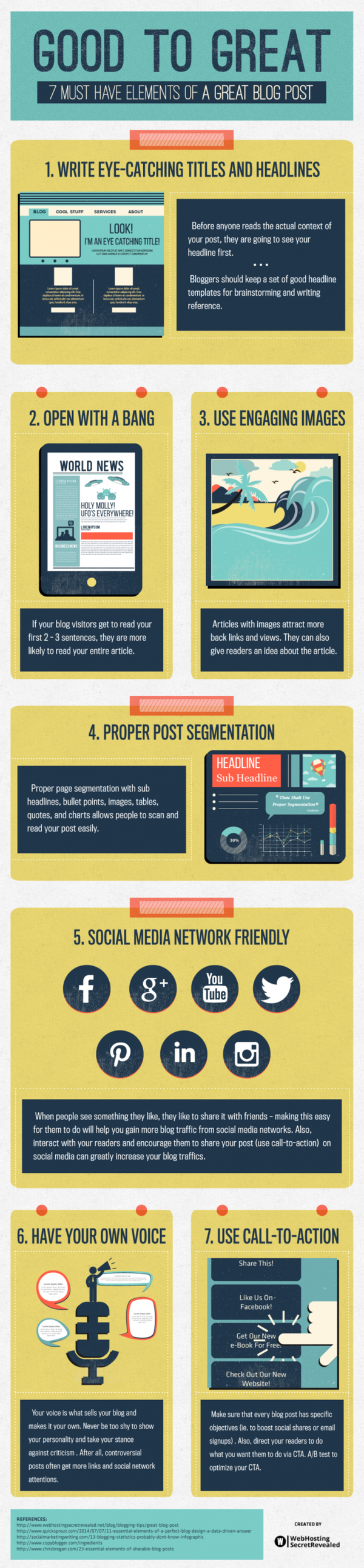 Infographic – 7 essential elements of an amazing blog post