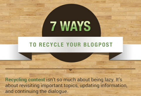 Infographic: 7 ways to make the most out of old blog posts
