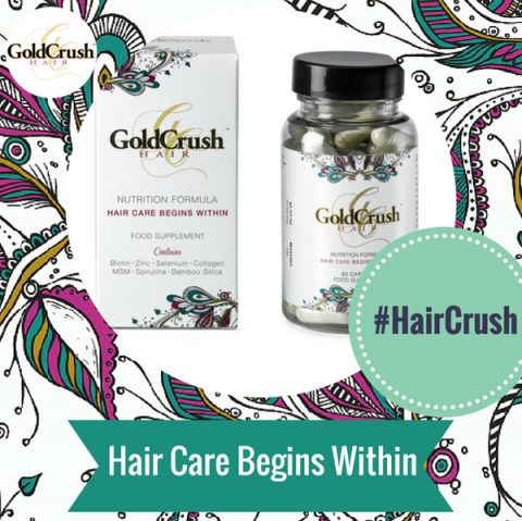 Blogging assignment: Review GoldCrush Hair Nutrition Formula – All Natural Hair Care Vitamins – Promoting healthy growing hair! (UK bloggers)