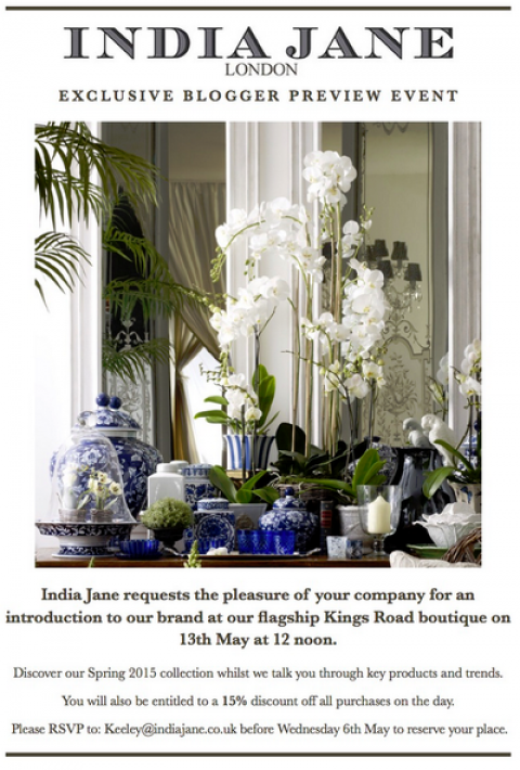 Blogging assignment: Home Interior bloggers invited to exclusive blogger preview event in London