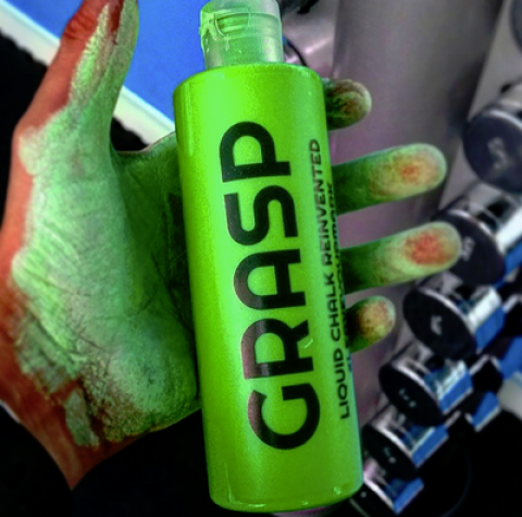 Blogging assignment: Weight Lifters! Crossfitters! Yogis! Coloured Liquid Chalk. That's right (Worldwide bloggers)