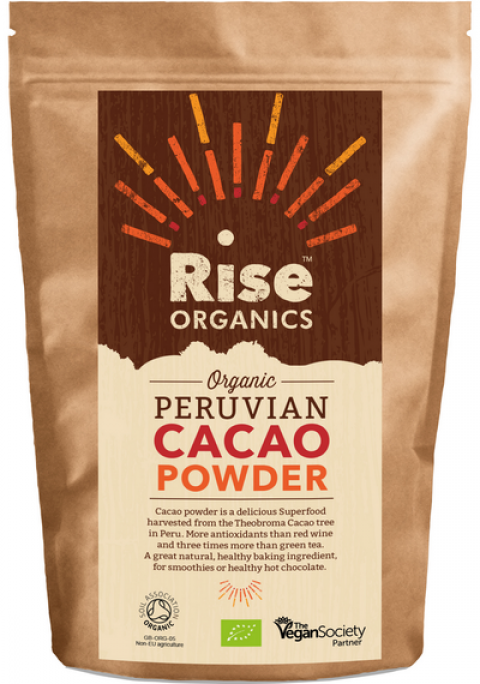 Blogging assignment: Rise Organic Cacao / Cocoa Powder 500g, Soil Association certified / registered with Vegan society | Premium Quality | Baking chocolate (UK bloggers)
