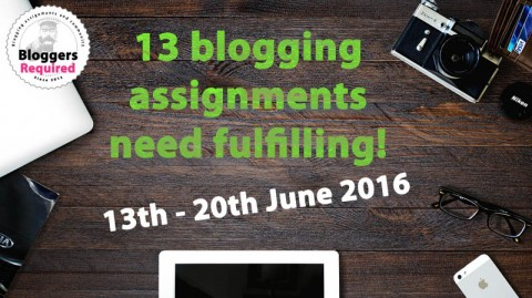13 blogging assignments need fulfilling!