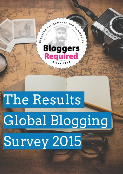 Global Blogging Survey 2015 Results