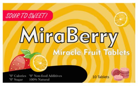 UK blogging assignment: Try & review Miracle Berry tablets. Turn sour foods into sweet indulgences.