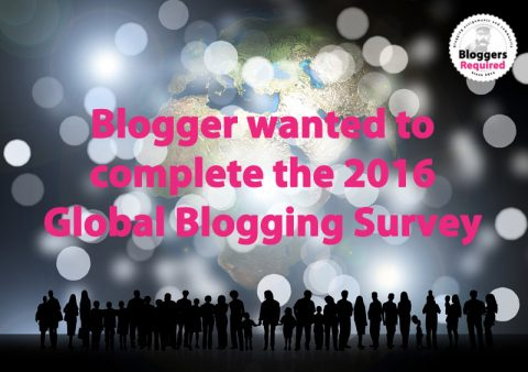 We've launched our third Global Blogging Survey