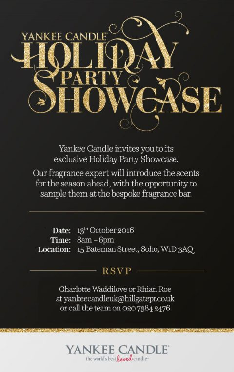 Blogging assignment: Yankee Candle Holiday Party Showcase! (Soho, London on Thursday 13th October)