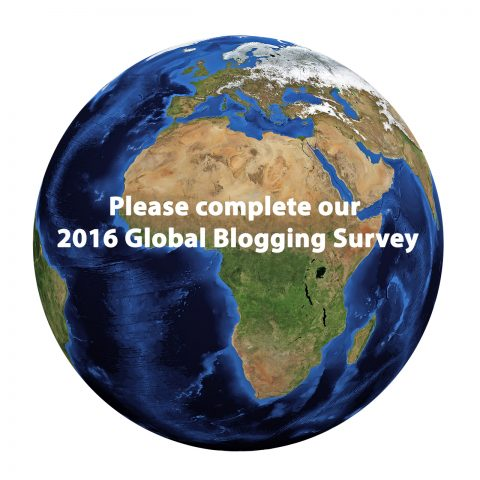 Please complete our 2016 Global Blogging Survey