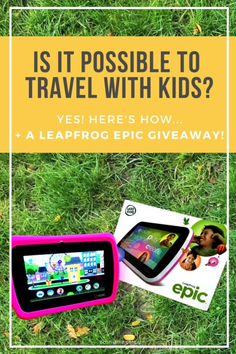 US Giveaway: Win a LeapFrog Epic tablet for Kid-friendly Travel Entertainment – Closes 02/01/2017