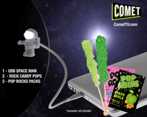 US Giveaway: Win A Comet TV Spaceman USB Light, pop rocks, rock candy and more spacey treats – Closes 02/03/2017
