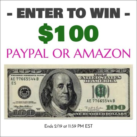 US Giveaway: $100 Amazon or PayPal Gift Card – Closes 02/19/2016