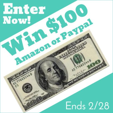 US Giveaway: February $100 Giveaway – Closes 02/28/2017