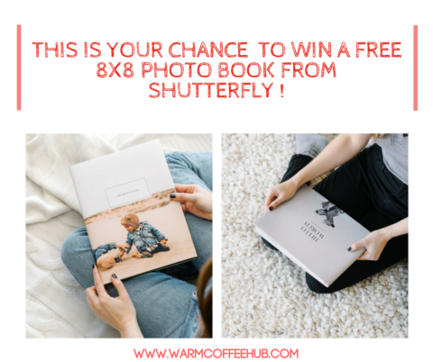 US Giveaway: WIN FREE 8X8 PHOTO BOOK FROM SHUTTERFLY! – Closes 02/25/2017