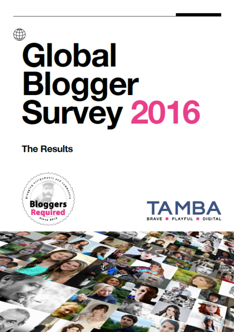 2016 Global Bloggers Survey reveals latest trends in relationship between bloggers, brands and the communications industry