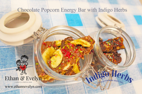 UK Giveaway: ☆ Chocolate Popcorn Energy Bars with Indigo Herbs ☆ Review & Giveaway – Closes 03/25/2017