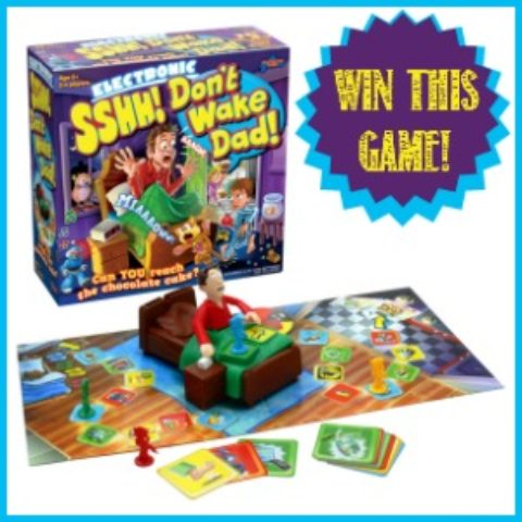 UK Blogger Giveaway: Sshh! Don't Wake Dad! board game 3/4 – Closes 04/03/2017