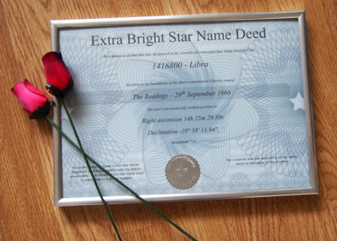 Blogger @NatalieAnnxox UK Giveaway: Win Your Own Star! – Closes 05/31/2017