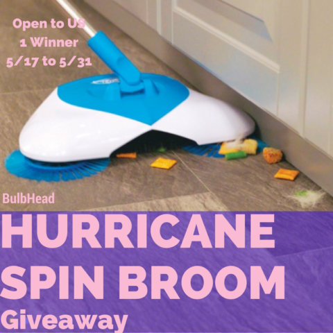 Blogger @easterchic US Giveaway: Hurricane Spin Broom Giveaway – Closes 05/31/2017