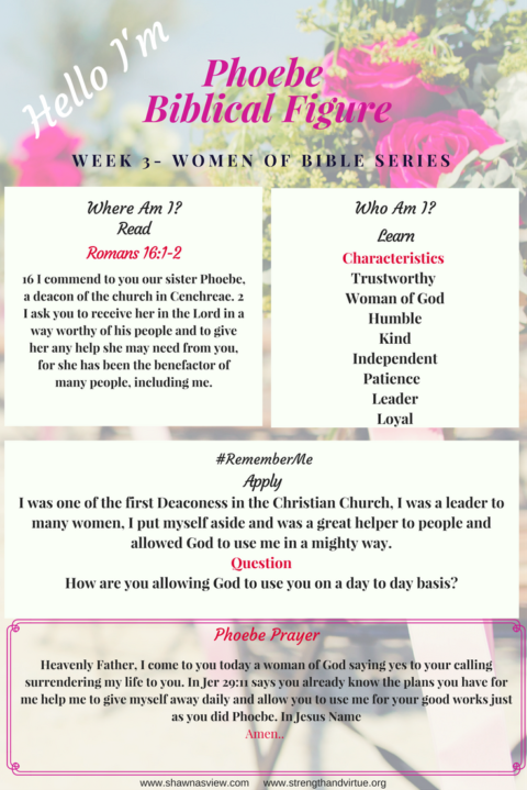 Week 3: Women of the Bible Series (Phoebe)