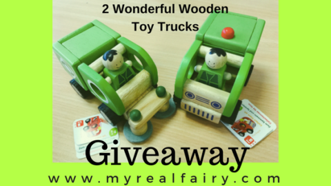 Blogger @myrealfairy UK Giveaway: 2 Wonderful Wooden Toy Trucks RRP £20. – Closes 06/15/2017