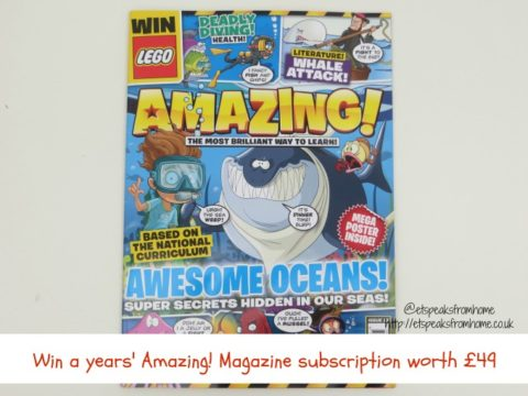 Blogger @etspeaksfrom UK Giveaway: Win 1 year of Amazing! magazine subscription worth £49 – Closes 07/16/2017