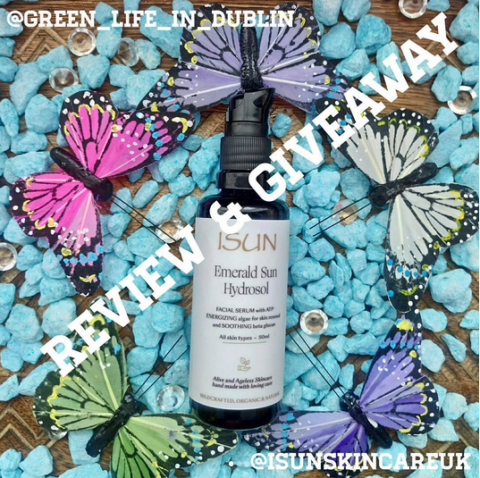 Blogger @GreenLifeDublin Europe Giveaway: Green Beauty Giveaway – Green Life In Dublin & ISUN Skincare UK – Closes 07/01/2017
