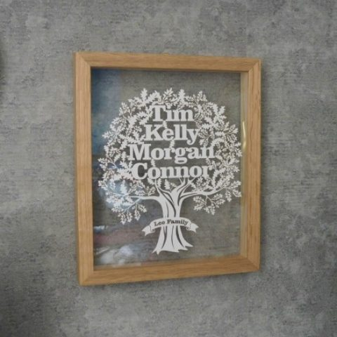 Blogger @MJLBlogger UK Giveaway: Win a Family Tree Papercut from Twenty Fingers worth £59 – Closes 06/25/2017