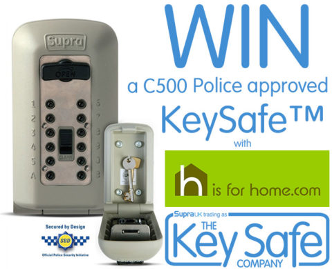 Blogger @hisforhome United Kingdom Giveaway: Win a police-approved outdoor key safe worth £59.94 – Closes 06/20/2017