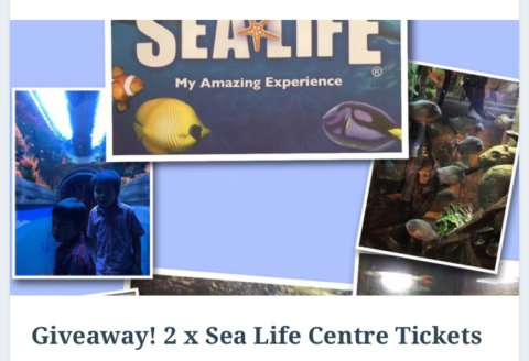 Blogger @eps_amy UK Giveaway: 2 x Sea Life Centre Tickets – Closes 08/11/2017
