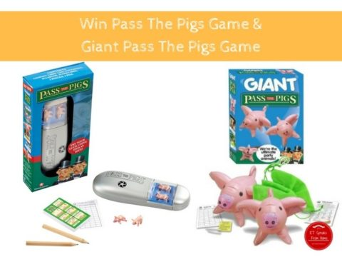 Blogger @etspeaksfrom UK Giveaway: Win Pass The Pigs game worth £9.99 and Giant Pass The Pigs game worth £14.99 – Closes 09/13/2017