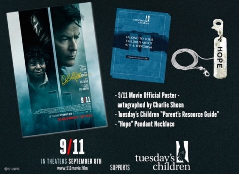 Blogger @mikethefanboy USA Giveaway: Win A 9/11 Film Gift Pack With A Charlie Sheen Autograph Poster – Closes 09/15/2017