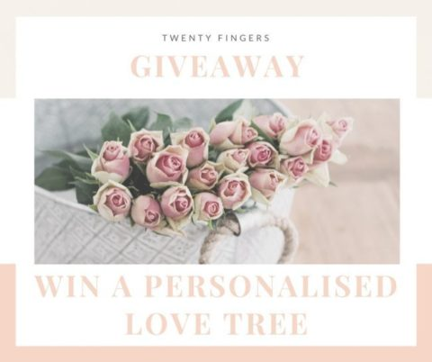 Blogger @champandpetals UK Giveaway: Personalised paper cut love tree from Twenty Fingers worth £59 – Closes 08/22/2017