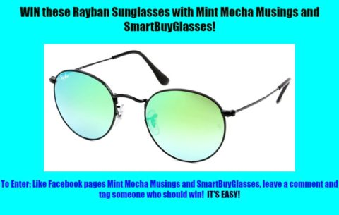 Blogger @nicoledwebb Worldwide Giveaway: Rayban Sunglasses Giveaway with Mint Mocha Musings – Closes 08/31/2017