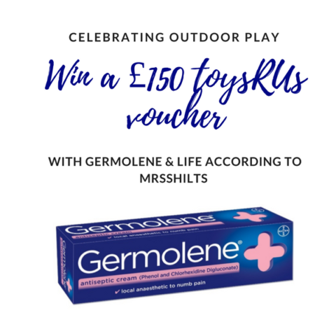 Blogger @mrsshilts United Kingdom Giveaway: Win a £150 ToysRUs Gift Voucher from Germolene – Closes 08/31/2017