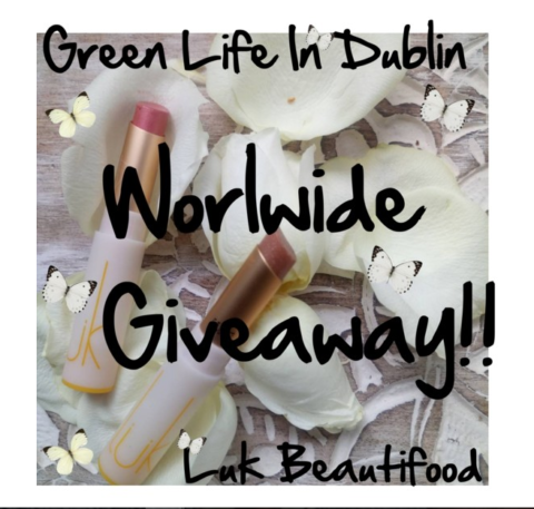 Blogger @GreenLifeDublin Worldwide Giveaway: Win Lipsticks Made From Real Food – Two Winners, Open Worldwide! – Closes 10/11/2017